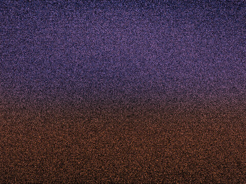 Abstract purple and orange shaded static film grain background