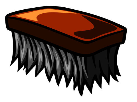 Vector clip art of a cleaning brush.