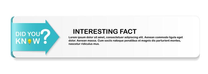 Fototapeta Did you know Speech Bubble Background with Idea Light Bulb Icon Vector Illustration EPS10 obraz
