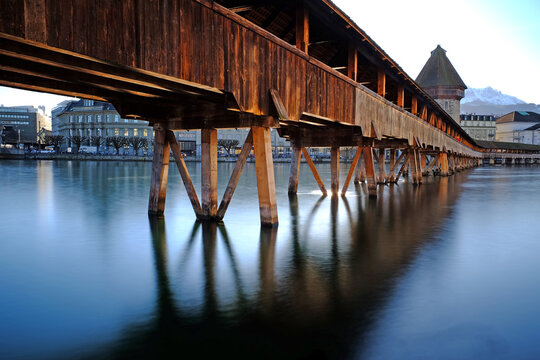 Pier Over Sea Against Sky In Luzern