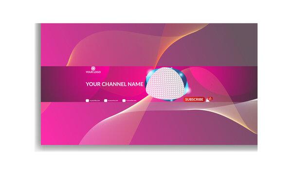 Youtube Banner Template. Modern youtube channel art. Youtube Banner Design.
