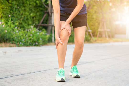 Running Leg injury Accident Female runners Sports sore Ankle sprain Pain in pain Female athletes with joint or muscle pain and lower body ach