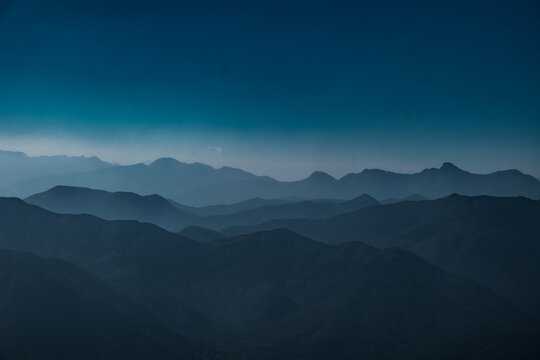 The layers of the mountains in Sai Kung, Hong Kong