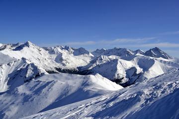 Zima w Tatrach, góry w śnieżnej scenerii, śnieg, mróz, Tatrzański Park Narodowy, TPN