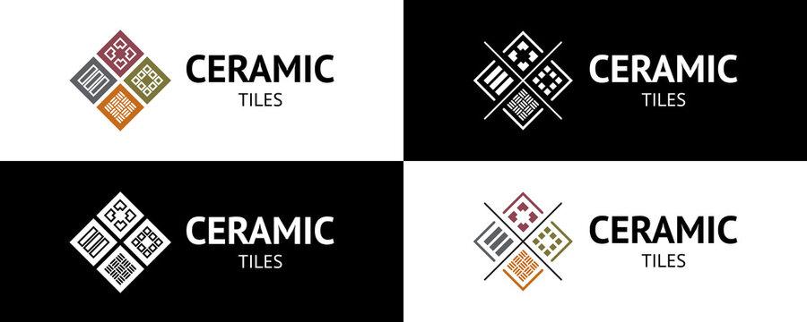 Stylish ceramic tiles logo