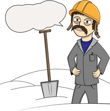 A disgruntled Builder