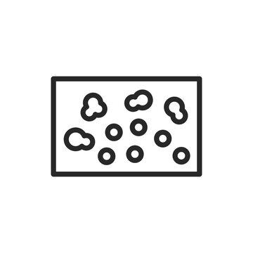 Lichen planus disease color line icon. Isolated vector element.
