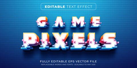 Fototapeta Editable text effect in arcade pixel game style obraz