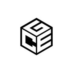 Obraz CEG letter logo design with white background in illustrator, cube logo, vector logo, modern alphabet font overlap style. calligraphy designs for logo, Poster, Invitation, etc. - fototapety do salonu