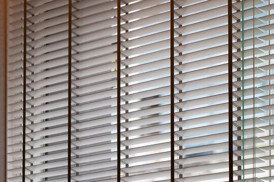 venetian blind of shop window. blind curtain.