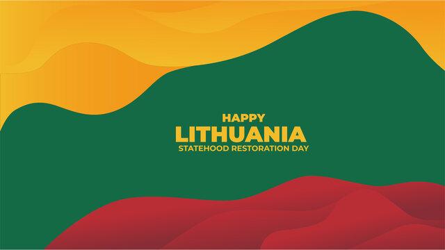 Lithuania flag color Background design