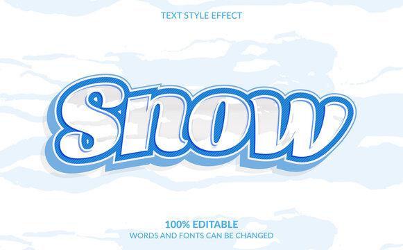 Editable Text Effect, Snow Text Style