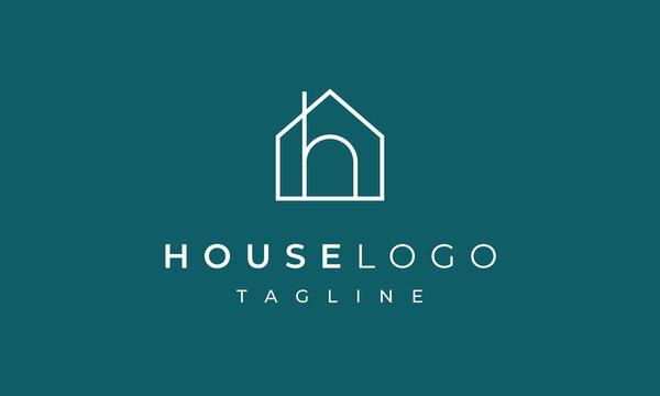 House Letter H Logo Design for Real Estate