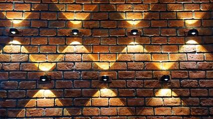 Full Frame Shot Of Illuminated Brick Wall