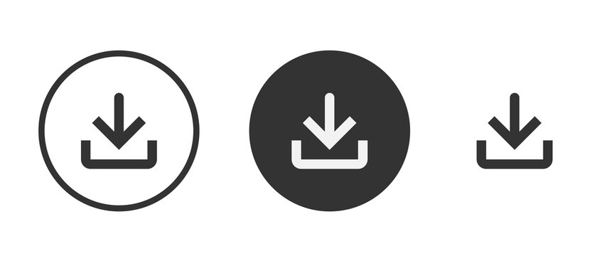 software download icon . web icon set . icons collection. Simple vector illustration.
