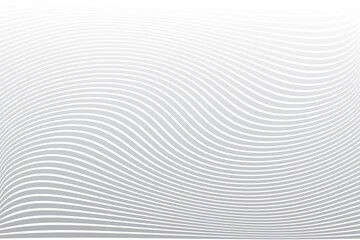 Fototapeta Absttact wavy lines texture. White striped background.