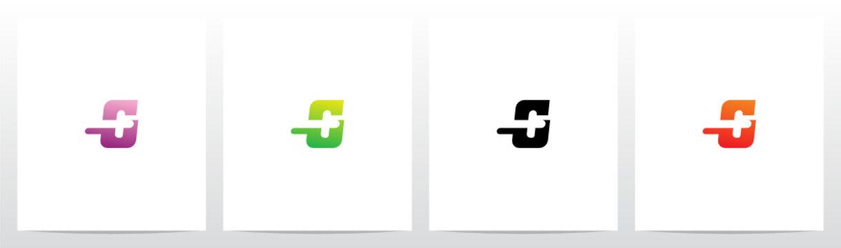 Plus Symbol On Letter Logo Design G