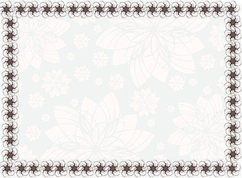 Light grey abstract background with white floral patterns