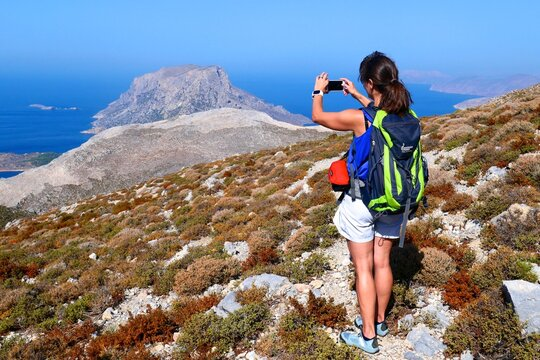 Wanderin auf Kalymnos Griechenland