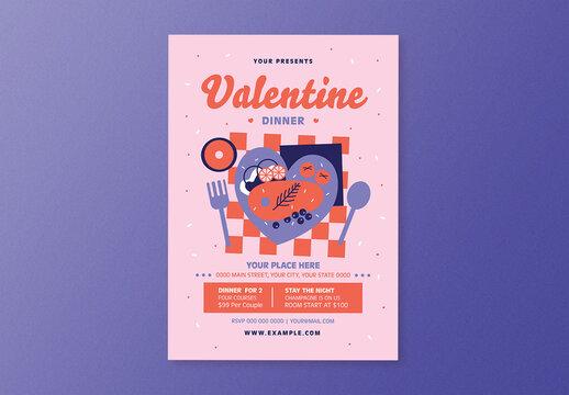 Valentine Dinner Flyer Layout
