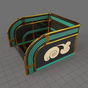 Art deco platform
