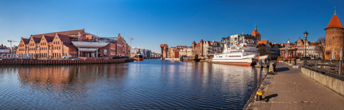 View of the historic part of the city of Gdansk, Poland in Europe