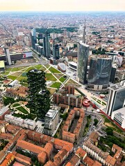 Obraz High Angle View Of Street Amidst Buildings In City - fototapety do salonu