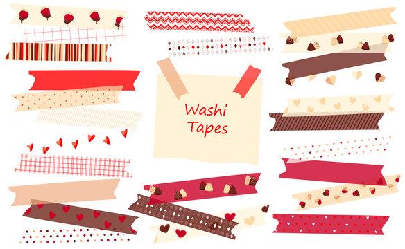Set of washi tape valentine's day.