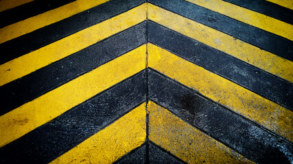 High Angle View Of Yellow Zebra Crossing On Road