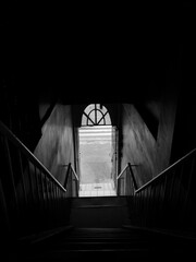 Fototapeta High Angle View Of Staircase Leading To Entrance obraz