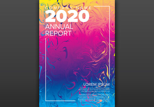 Artistic Annual Report Layout