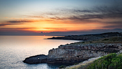 Obraz Scenic View Of Sea Against Sky During Sunset - fototapety do salonu
