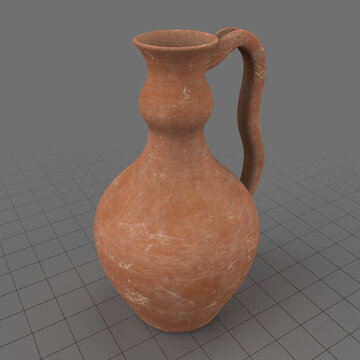 Antique clay pitcher