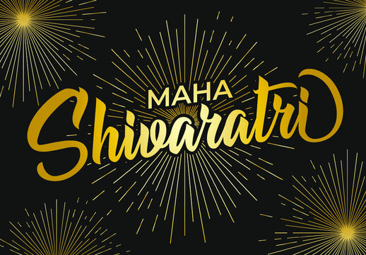 Maha Shivaratri vector illustration background. India celebration day. Eps 10