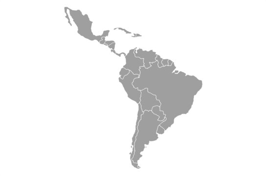 Territory of continents South America.