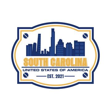 south carolina skyscraper vector logo