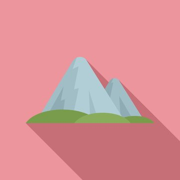 Sweden mountains icon. Flat illustration of Sweden mountains vector icon for web design