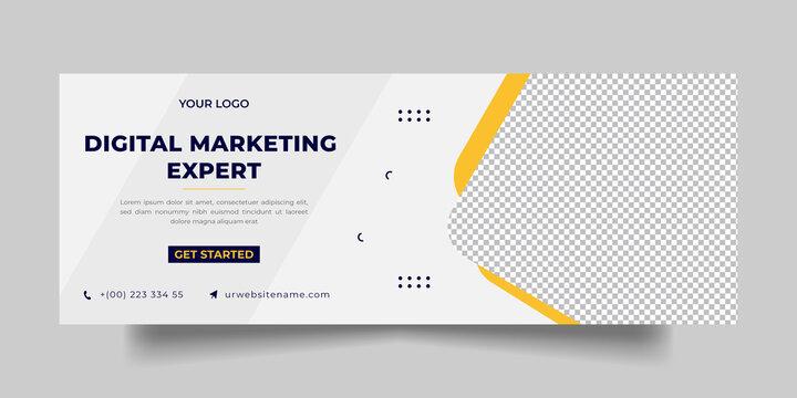 Modern Digital marketing Corporate, facebook cover and social media post
