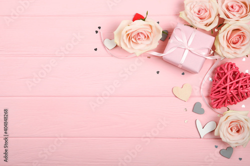 beautiful mothers day background on colored background with place for text