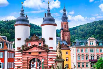 Landmarks and beautiful old towns of Germany - medieval Heidelberg .