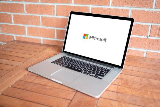 Microsoft logo editorial illustrative