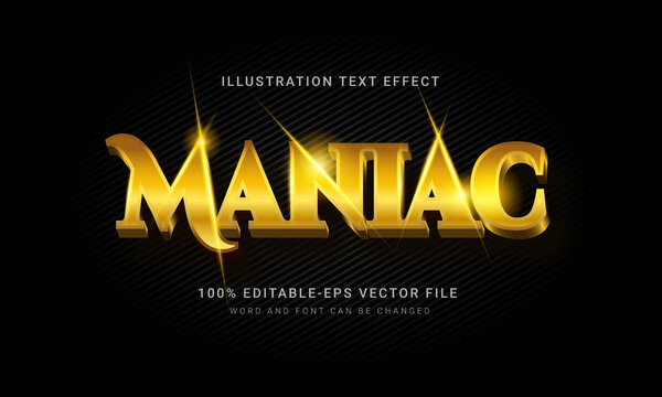 Gold Maniac 3d Text Style Effect.