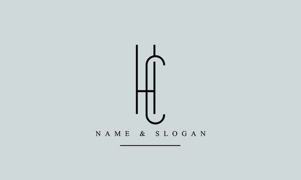 HC, CH, H, C Letter Logo Design with Creative Modern Trendy Typography