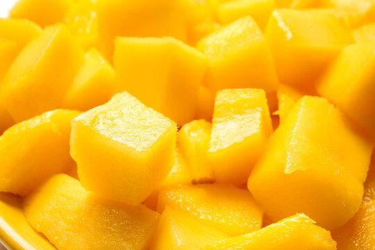 Sweet cut mango as background