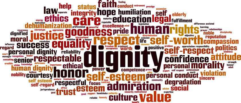 Dignity word cloud