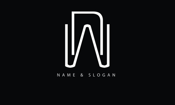 NW, WN, N, W abstract letters logo monogram
