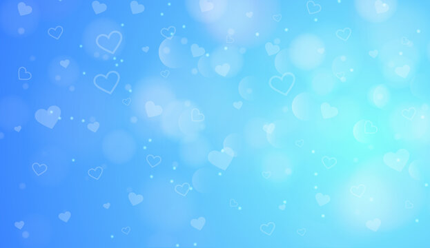 Modern Colors Heart Shapes Background in 8K High Resolution for Wedding, Love and Valentines Events