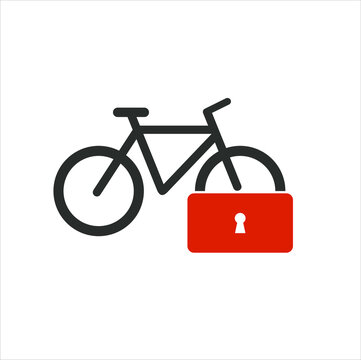 icon for safety or bicycle locks.