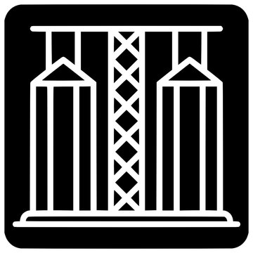 grain elevator icon outline style vector Elevator, Grain, Outline, Black, Silo, Icon, Vector, Isolated, Compound, Thin, Cleaner, Art