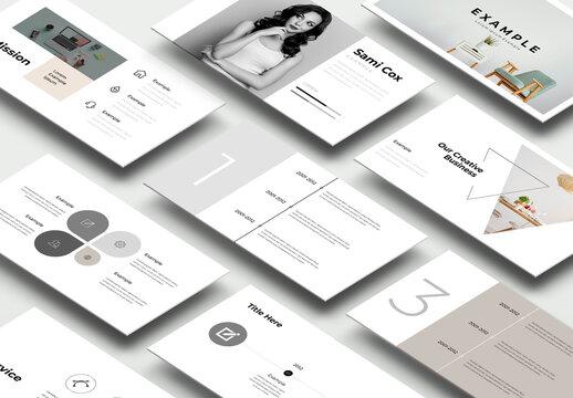 Simple Minimalist Presentation Layout